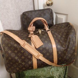 Louis Vuitton Keepall Bandouliere 55 with Pouch 28